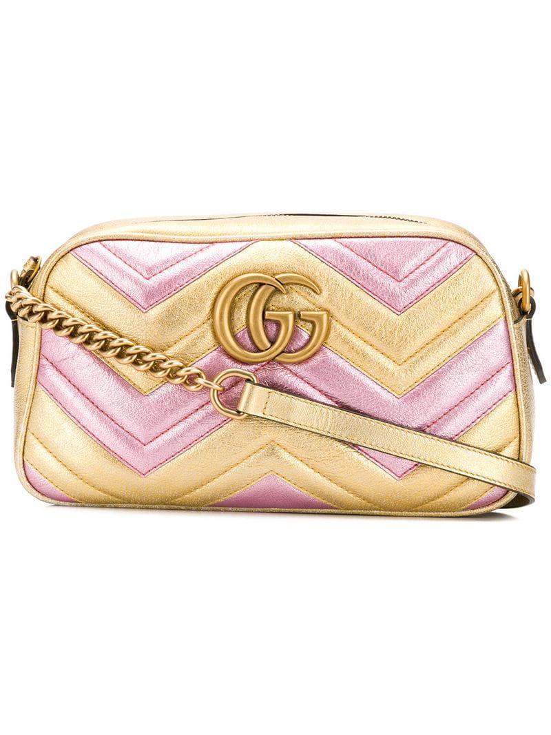 dcd03e26563846 Gucci - Metallic Laminated GG Marmont Bag - Lyst. View fullscreen