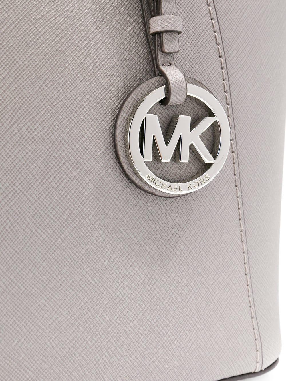 Sac à main à logo Cuir MICHAEL Michael Kors en coloris Gris lx2C