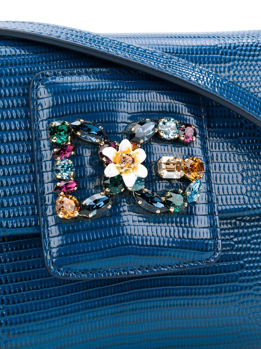 Dolce & Gabbana Leather Small Dg Millennials Crossbody Bag in Blue