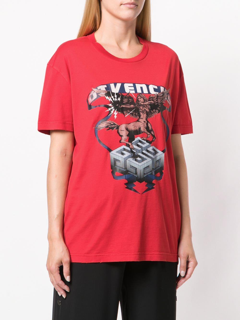 e64d3e48 Lyst - Givenchy Centaur Print T-shirt in Red