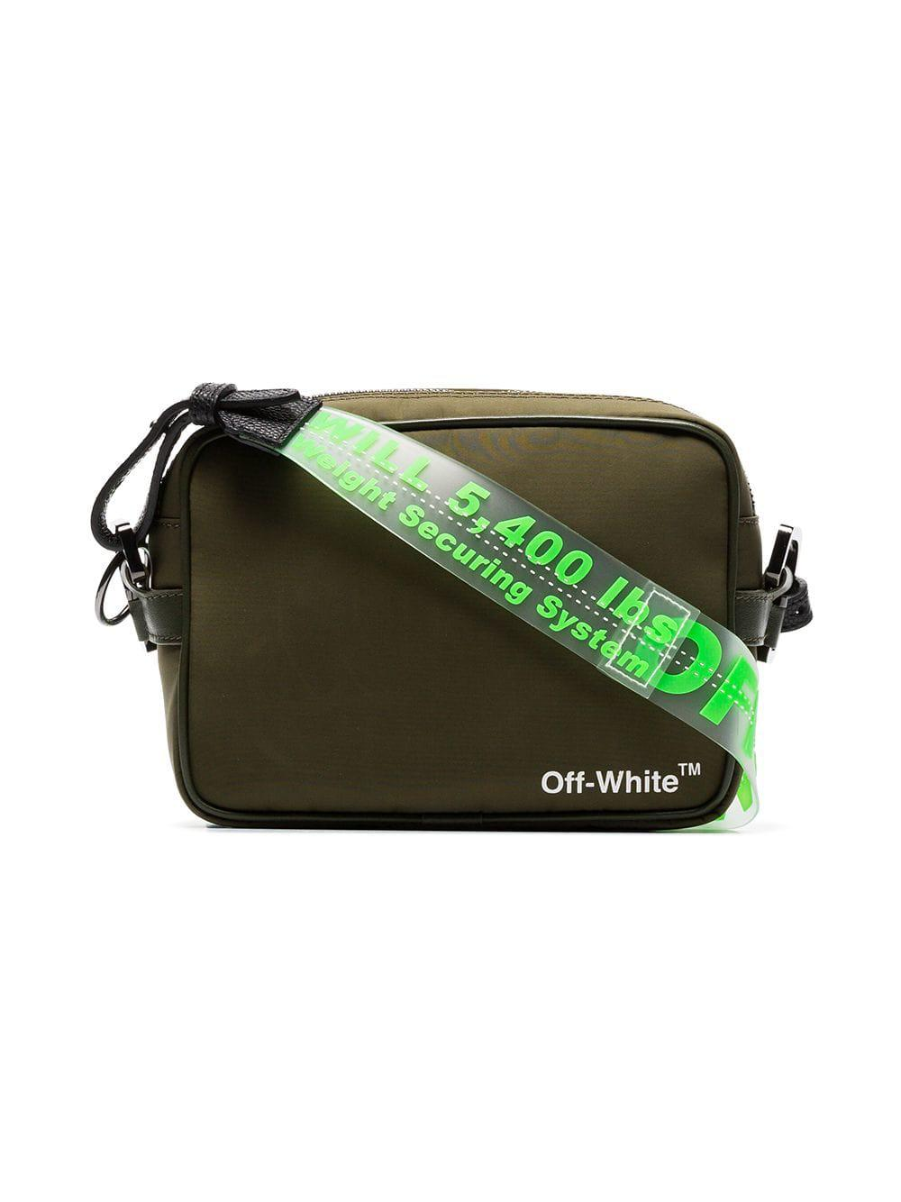 5943587c2f6f Lyst - Off-White c o Virgil Abloh Clear Parcel Tape Pvc Belt Strap in Green  for Men