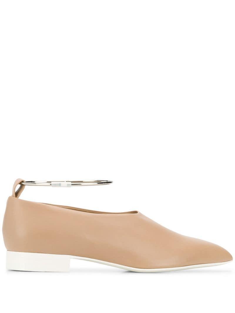 f8b695108f9 Jil Sander. Women s Pointy Anklet Loafers
