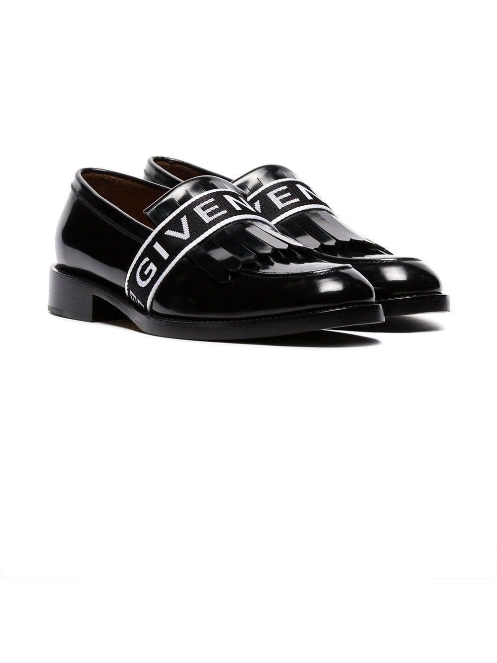 Givenchy Leer Cruz Leren Loafers Met Logobandje in het Zwart voor heren