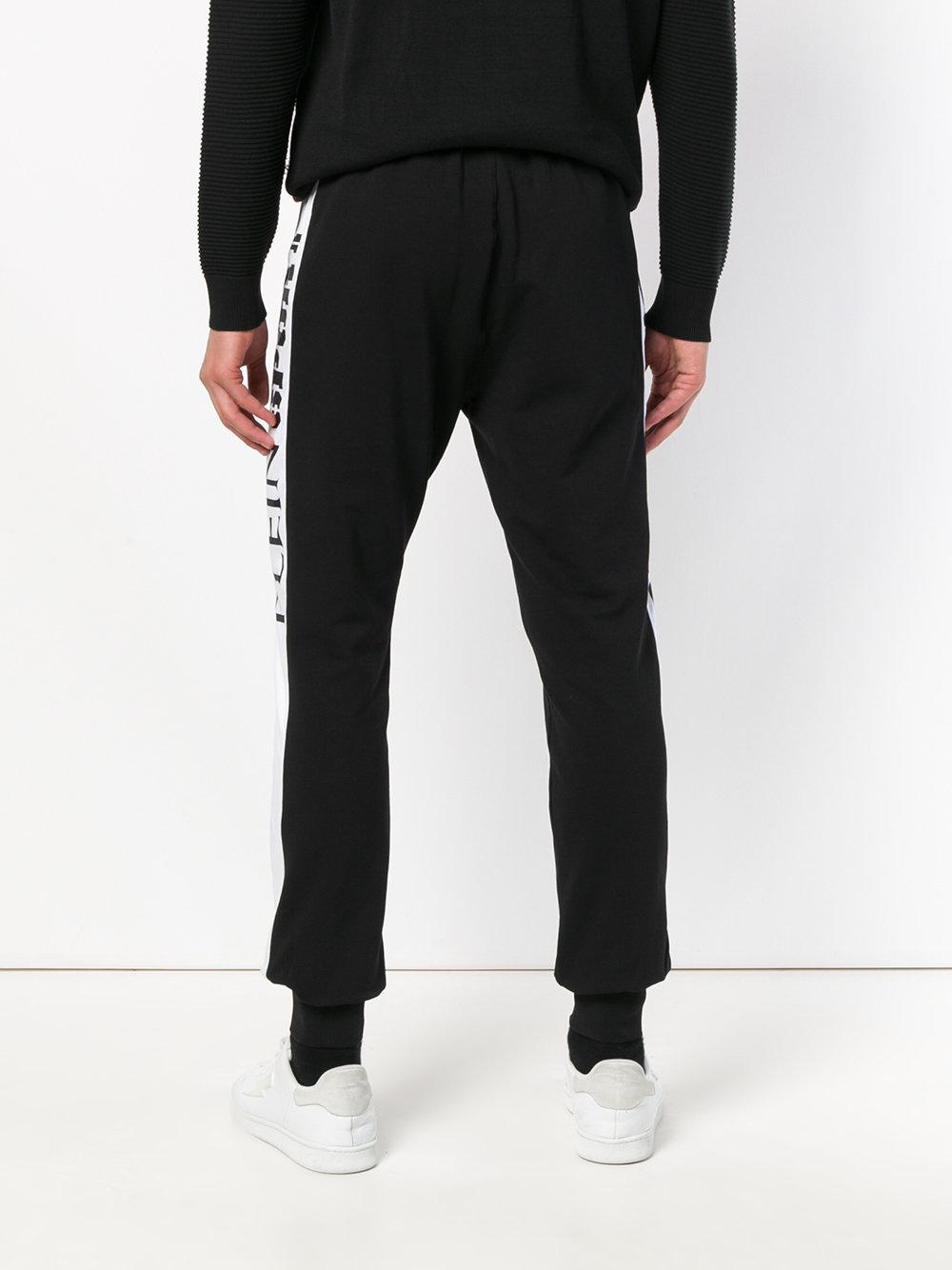 Philipp Plein Cotton Logo Track Pants in Black for Men