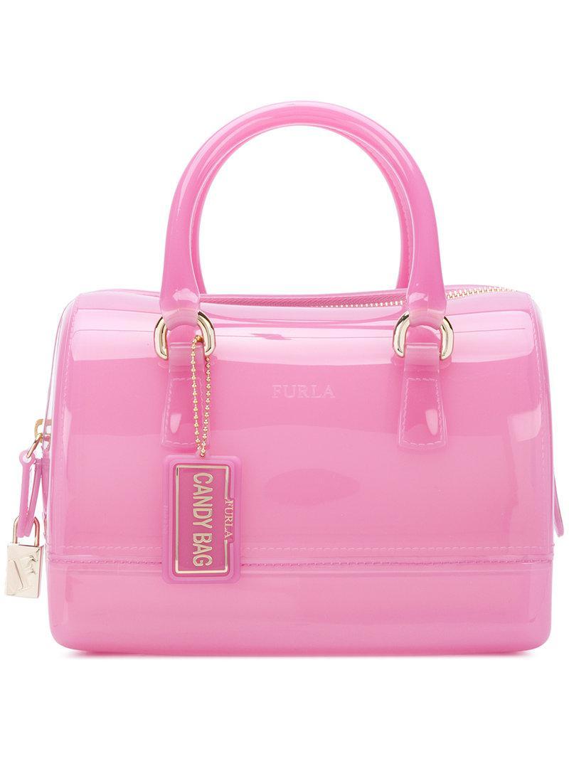 cbfffa24ed6e Lyst - Furla Small Candy Boston Bag in Pink