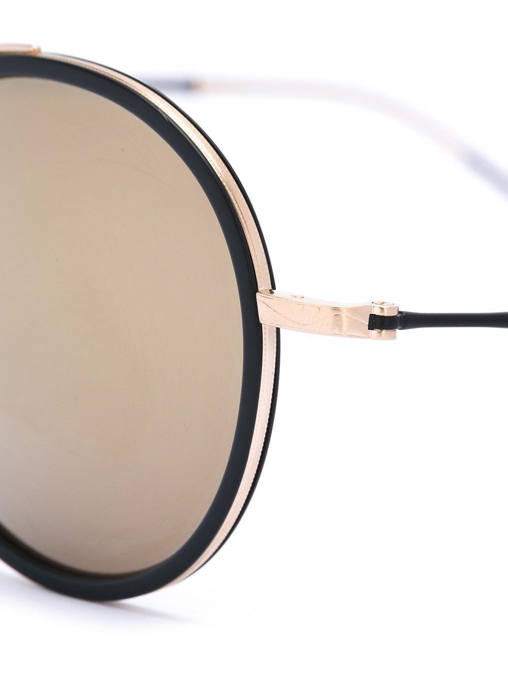 Matsuda Round Framed Sunglasses in Black