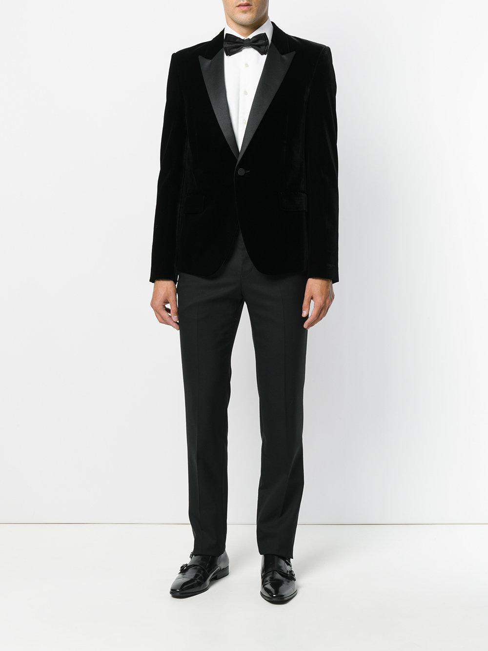 bda2459372a Saint Laurent Black Iconic Le Smoking Jacket for men. View fullscreen
