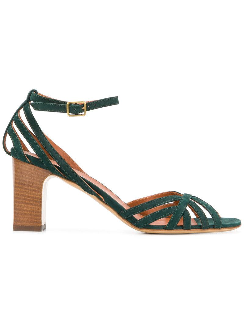 strappy block-heel sandals - Green Michel Vivien New Styles Cheap Online Low Price Fee Shipping Sale Online Sale Wide Range Of Free Shipping Very Cheap Gkkb02Fwm
