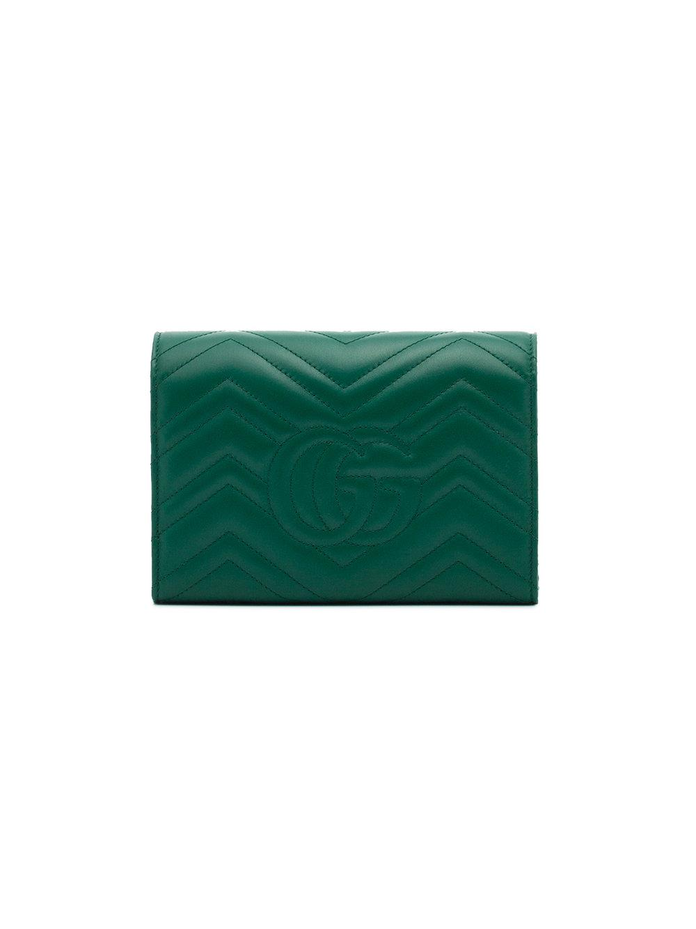 c7a927bfd409bc Gg Marmont Small Matelassé Shoulder Bag Green | Stanford Center for ...