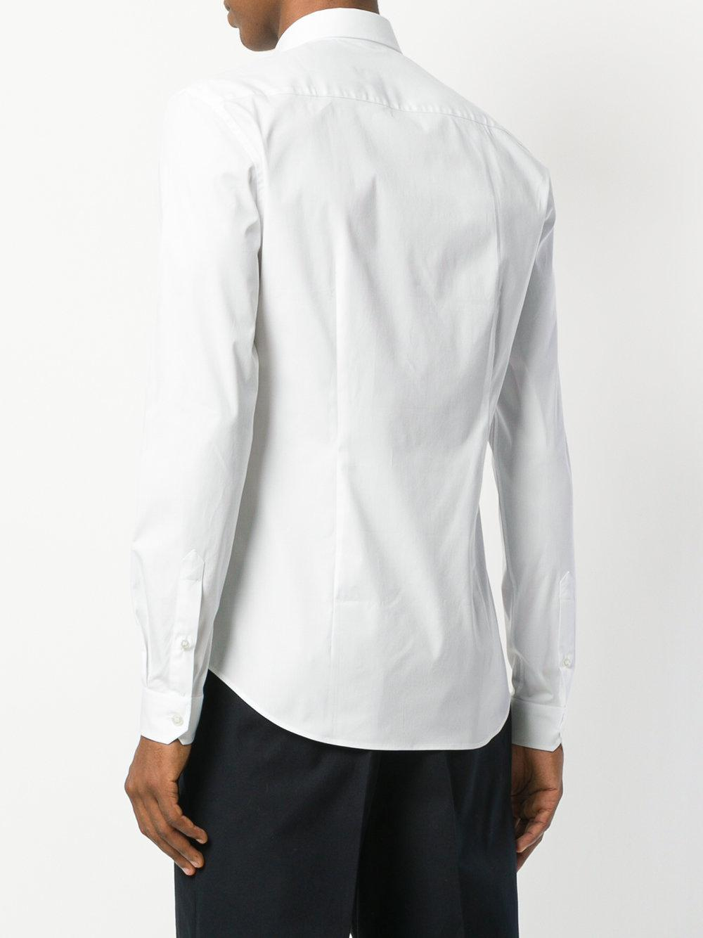 Versace Synthetic Classic Slim Shirt in White for Men