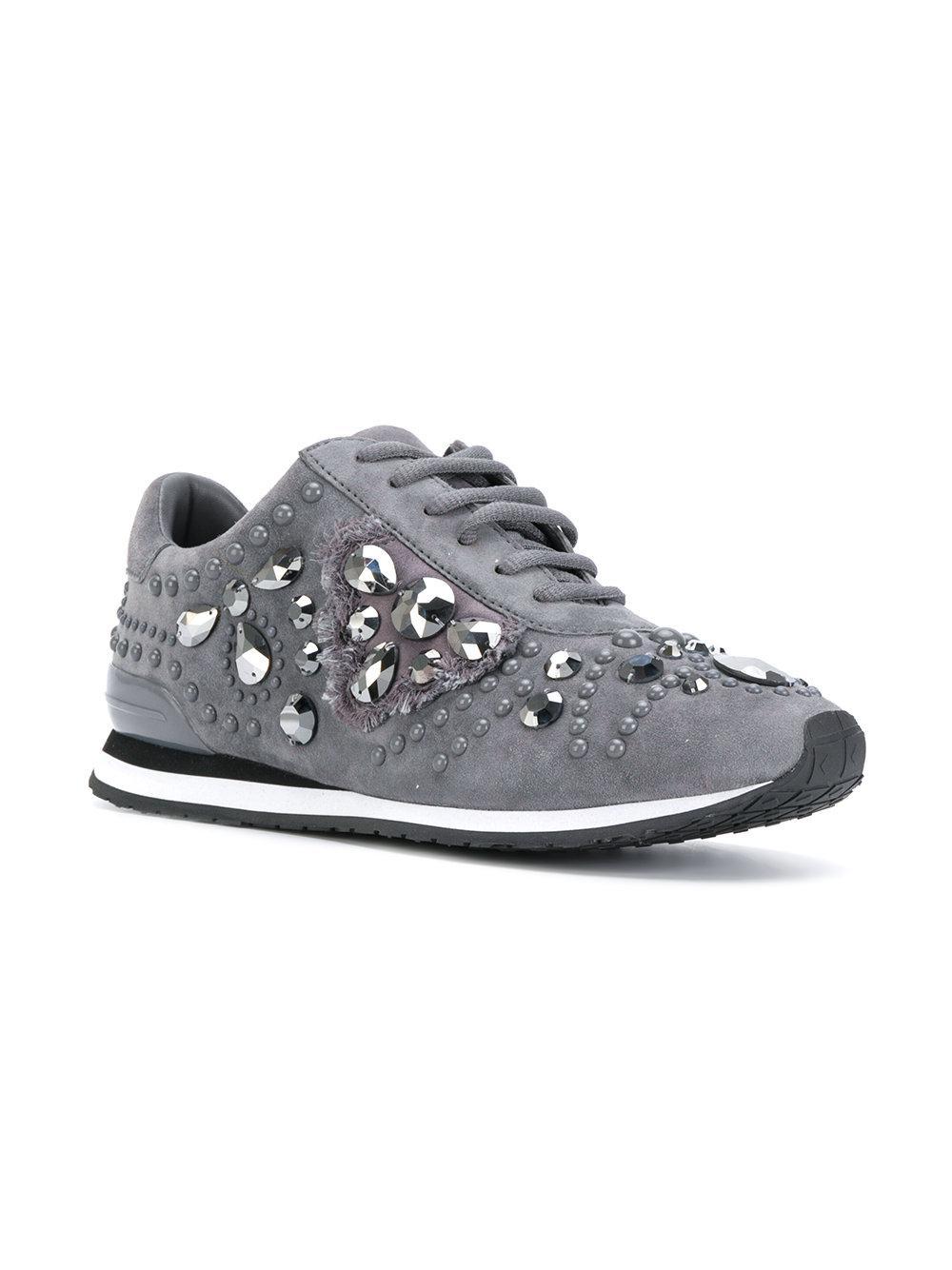 519472275bfc Lyst - Tory Burch Scarlett Sneakers in Gray