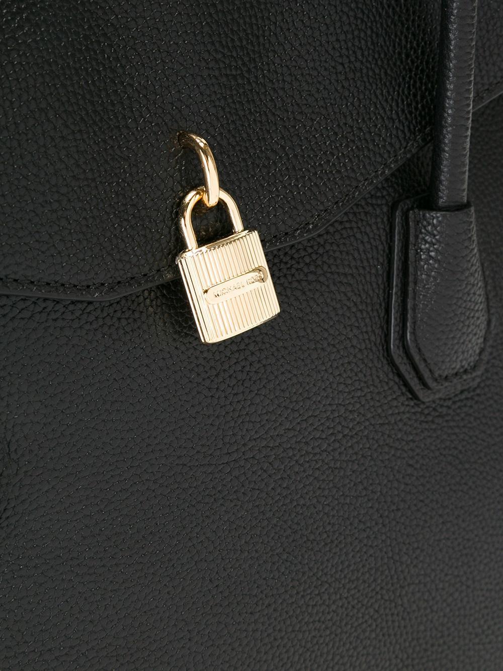 MICHAEL Michael Kors Leather Detailed Locket Tote Bag in Black