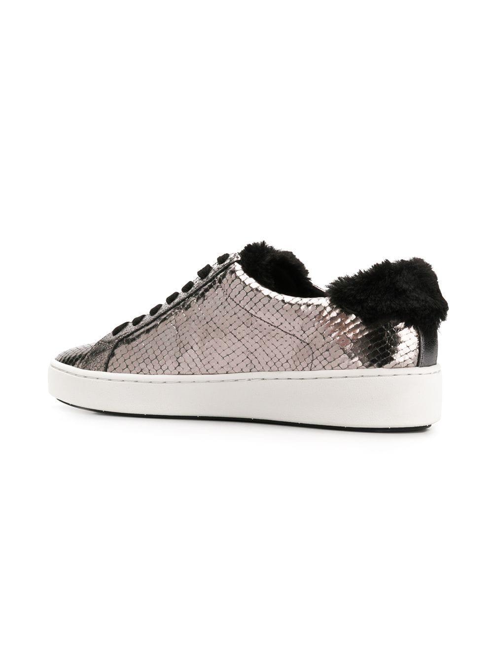 61c9d74b57d4 Lyst - MICHAEL Michael Kors Snakeskin Effect Low-top Sneakers in ...