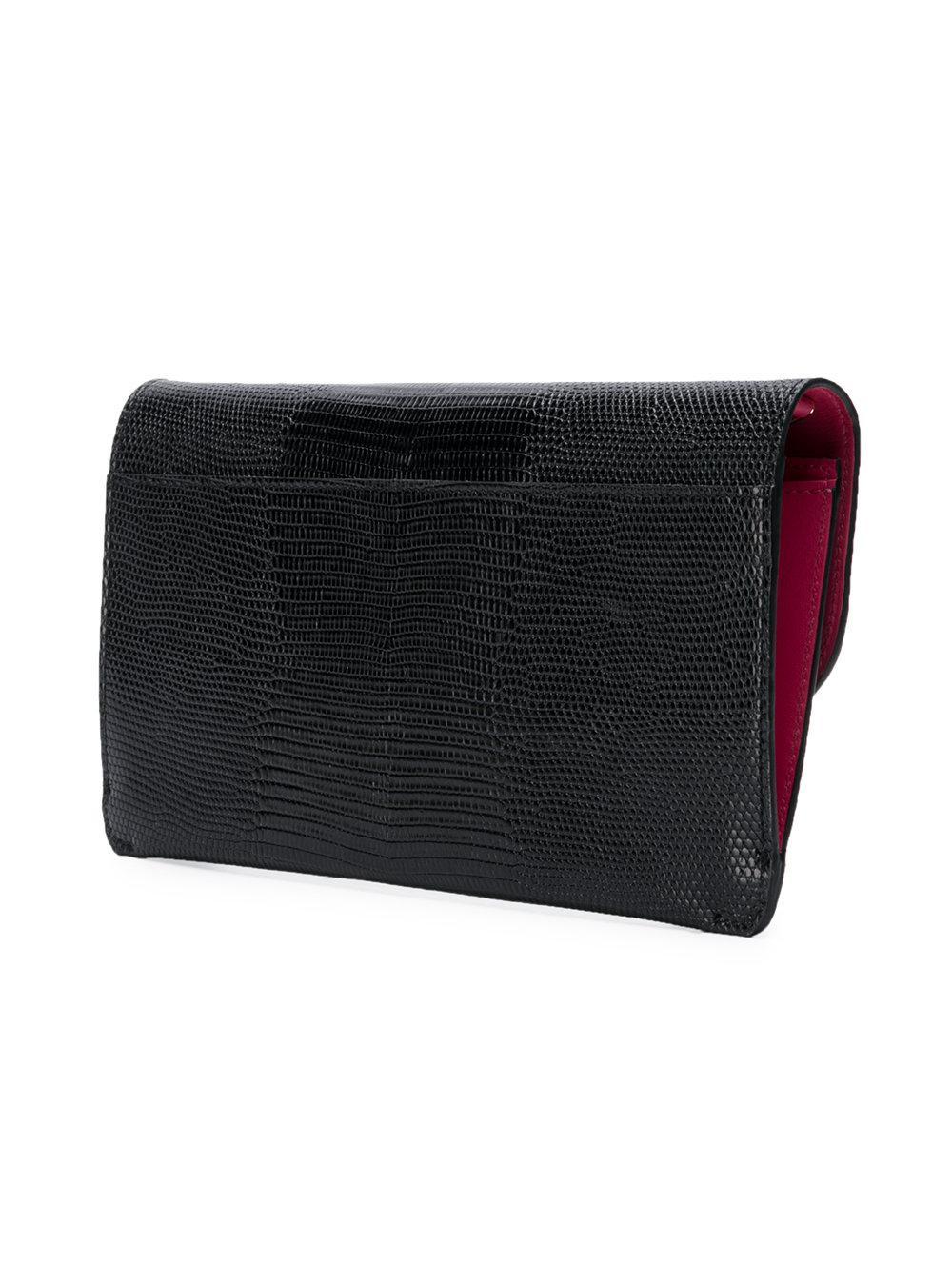 Dolce & Gabbana Leather Encrusted Dg Crossbody Bag in Black
