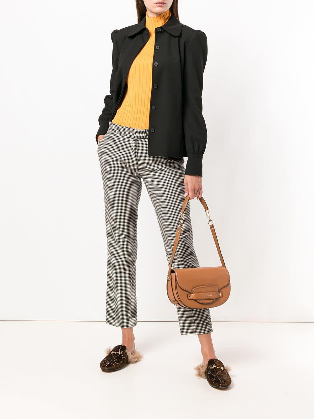 7103ba731850e5 MICHAEL Michael Kors Cary Saddle Bag in Brown - Save 71% - Lyst