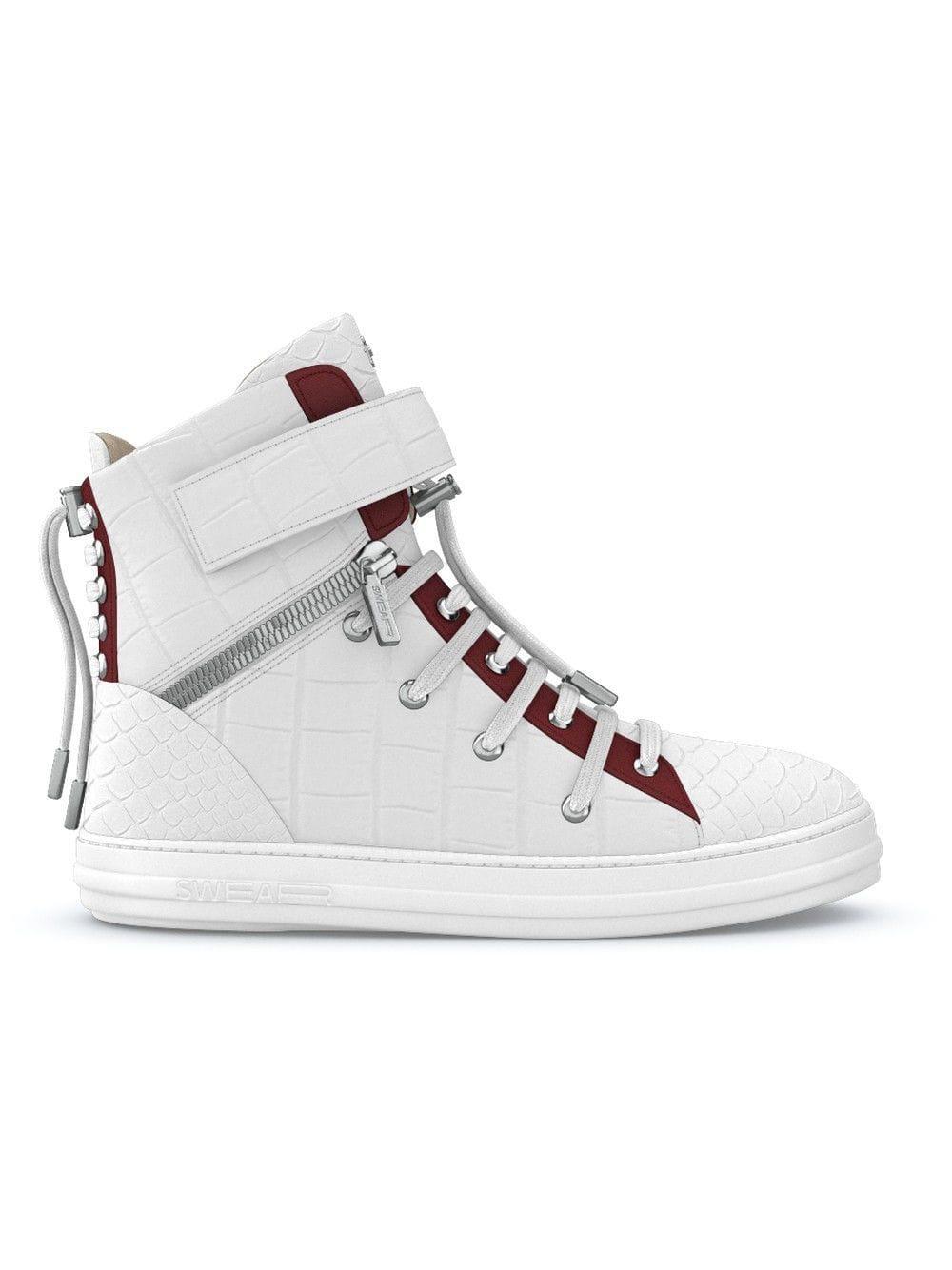 Swear Suede Regent Hi-top Sneakers in White