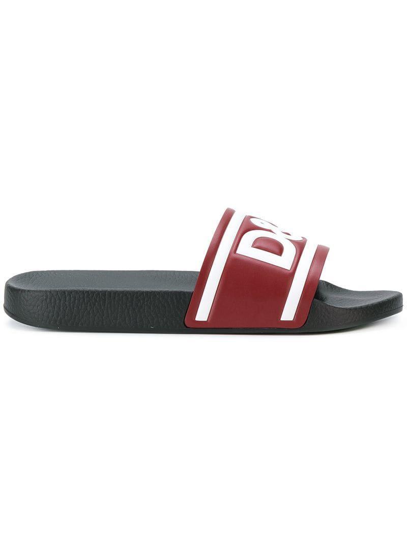 0b51ae5d43dde6 ... Pink Logo Slide Sandals for Men - Lyst. View fullscreen