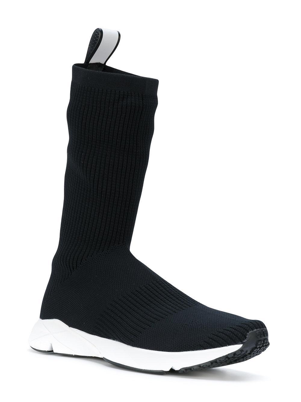 Lyst Reebok Supreme Sock Sneakers In Black