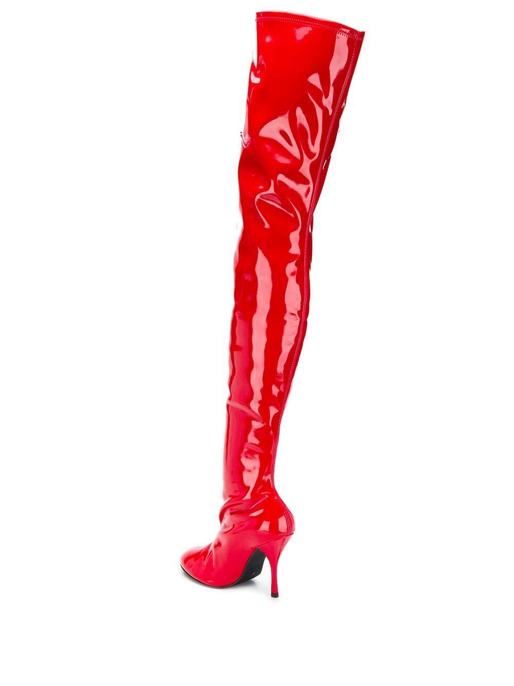 Botas Vienna 100 Stuart Weitzman de color Rojo