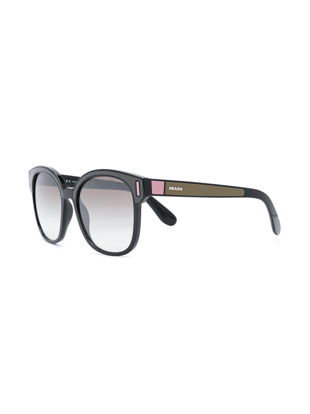 Prada Square Frame Sunglasses in Black