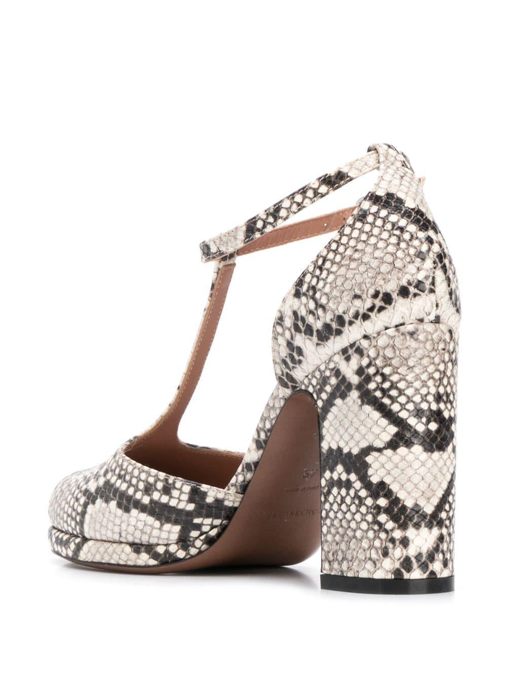 6e5162be584 Women's White Snakeskin Print Sandals