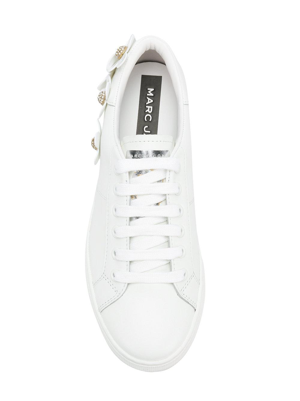 Marc Jacobs Leather Daisy Sneakers in White
