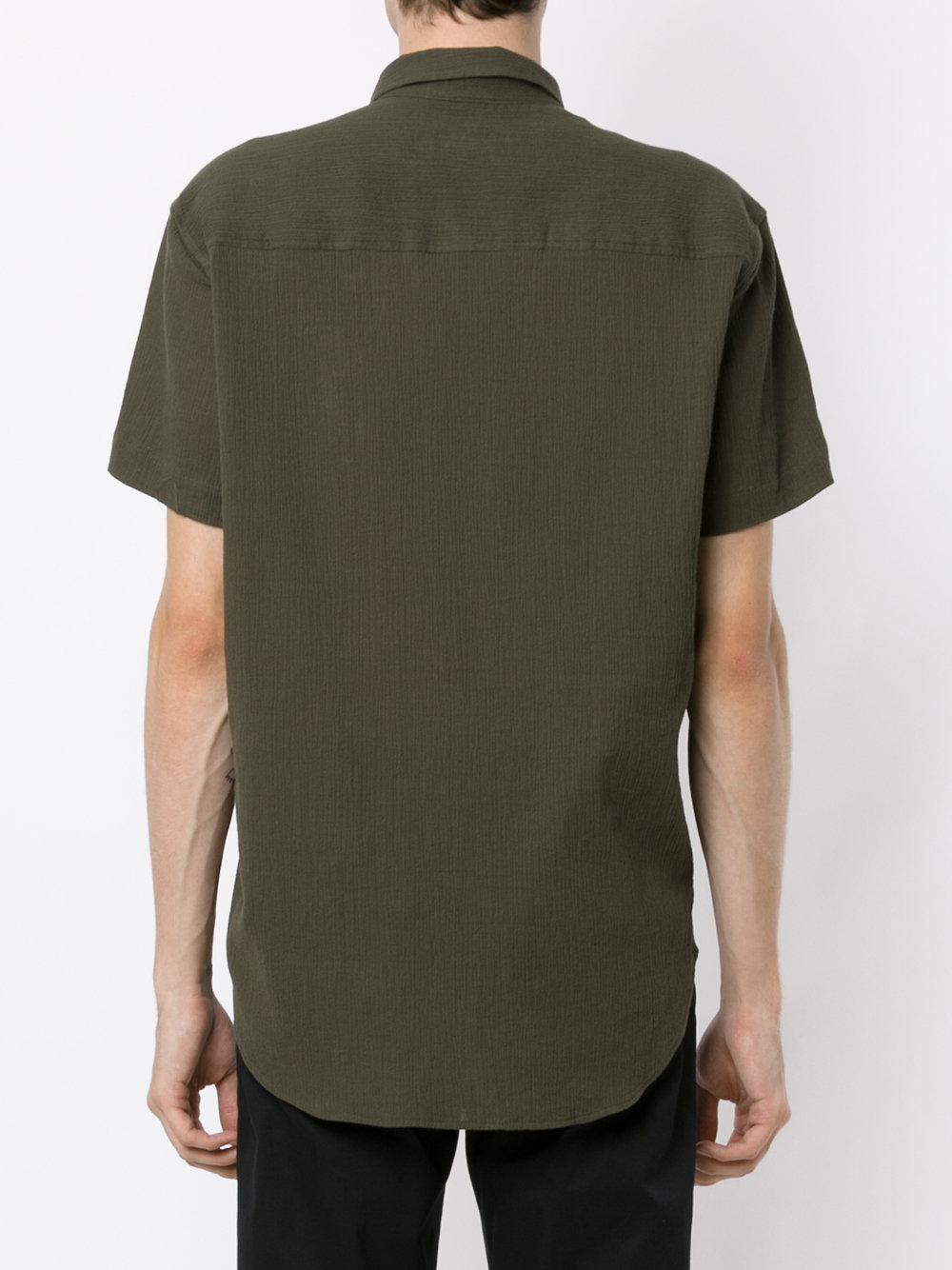 Osklen Cotton Wrinkled Shirt in Green for Men