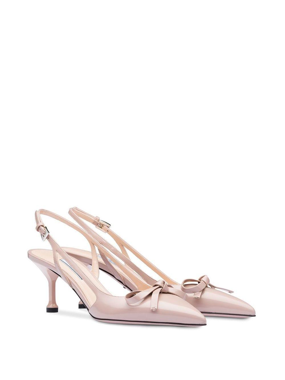 Zapatos de tacón con tira trasera Prada de Cuero de color Rosa