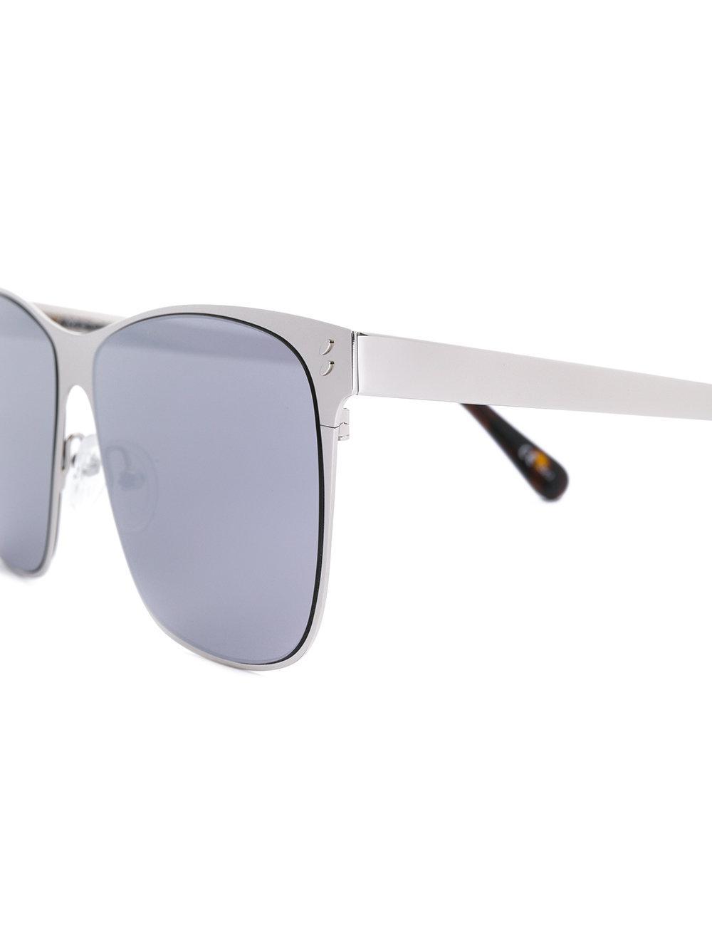 Stella McCartney Square Frame Sunglasses in Metallic