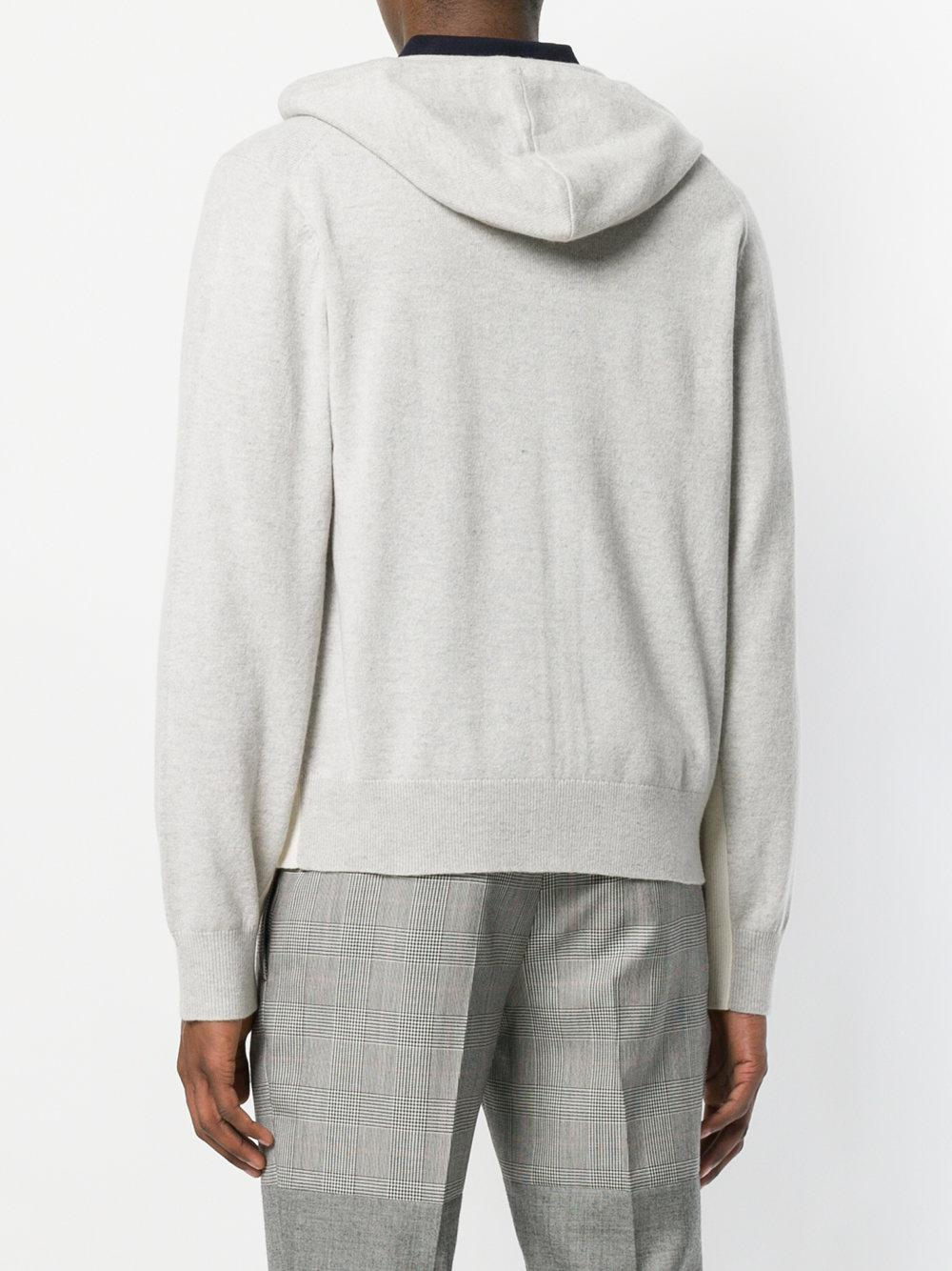 JOSEPH Cashmere Hooded Cardigan in Grey (Grey) for Men