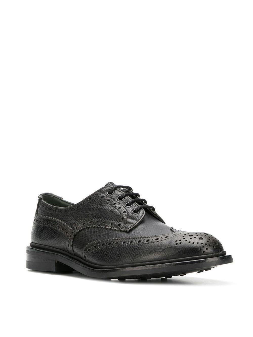 Zapatos derby Bourton Tricker's de Caucho de color Negro para hombre
