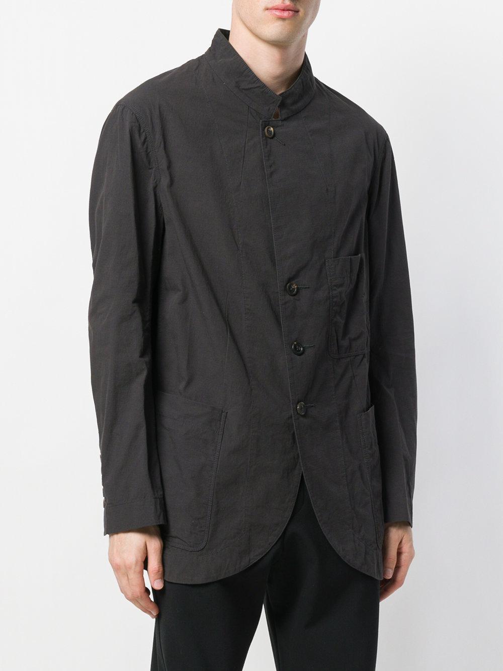 Ziggy Chen Cotton Relaxed Blazer in Grey (Grey) for Men