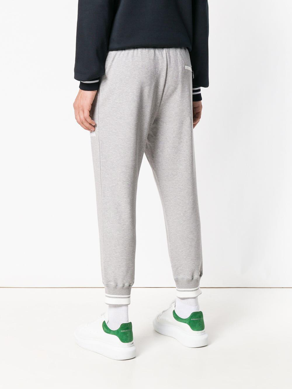 Dolce & Gabbana Cotton Sports Trousers in Grey (Grey) for Men