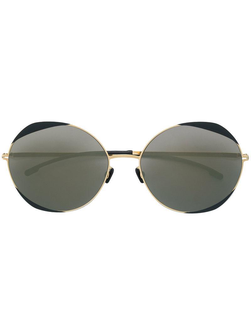 d725279f75f5f Mykita Oversized Sunglasses in Metallic - Lyst