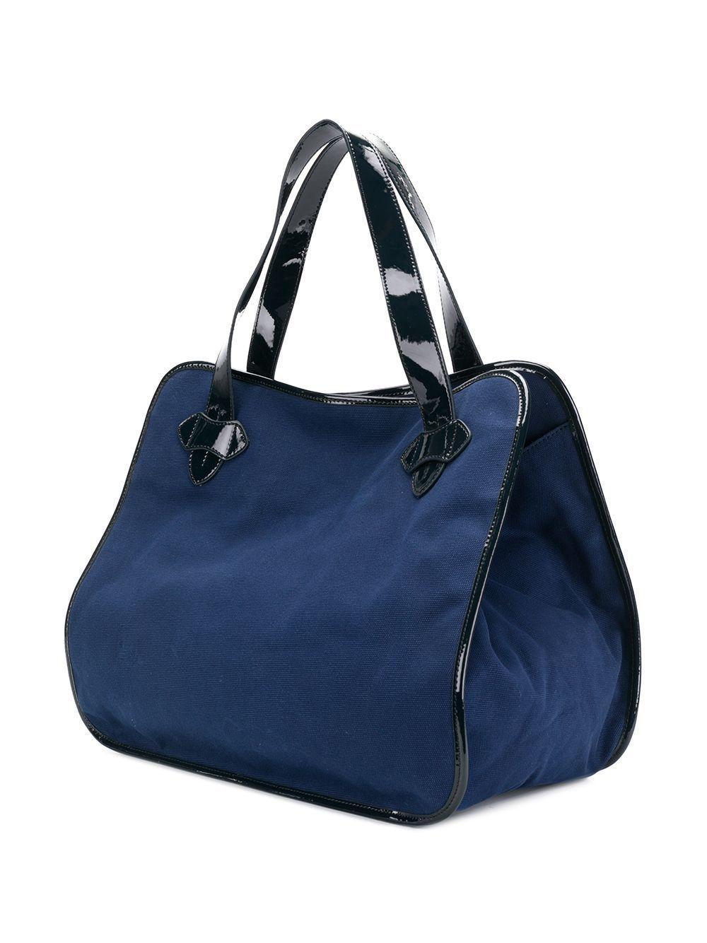 Tila March Canvas Zalig Xl Tote Bag in Blue
