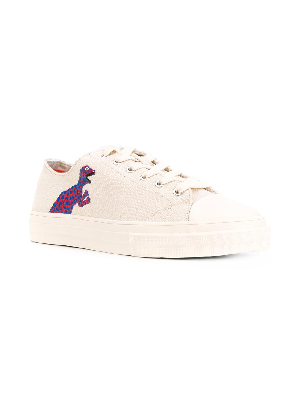PS by Paul Smith Canvas Dinosaur Sneakers
