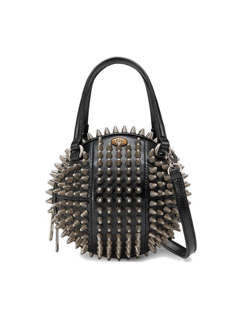 727c227bf75 Lyst - Gucci Basketball Shaped Mini Shoulder Bag in Black