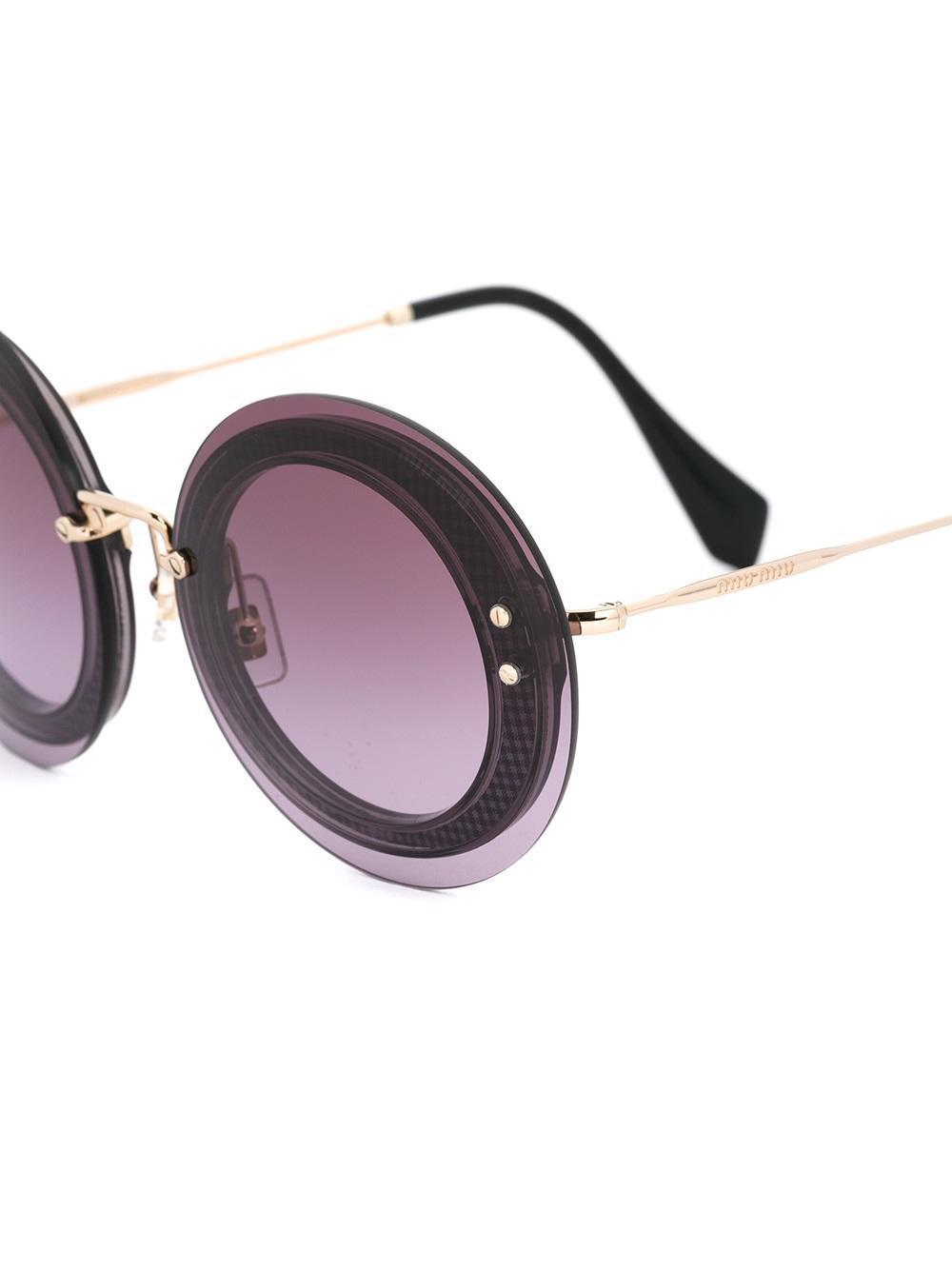 94401edeb11 Miu Miu - Multicolor Oversize Round Pattern Sunglasses - Lyst. View  fullscreen