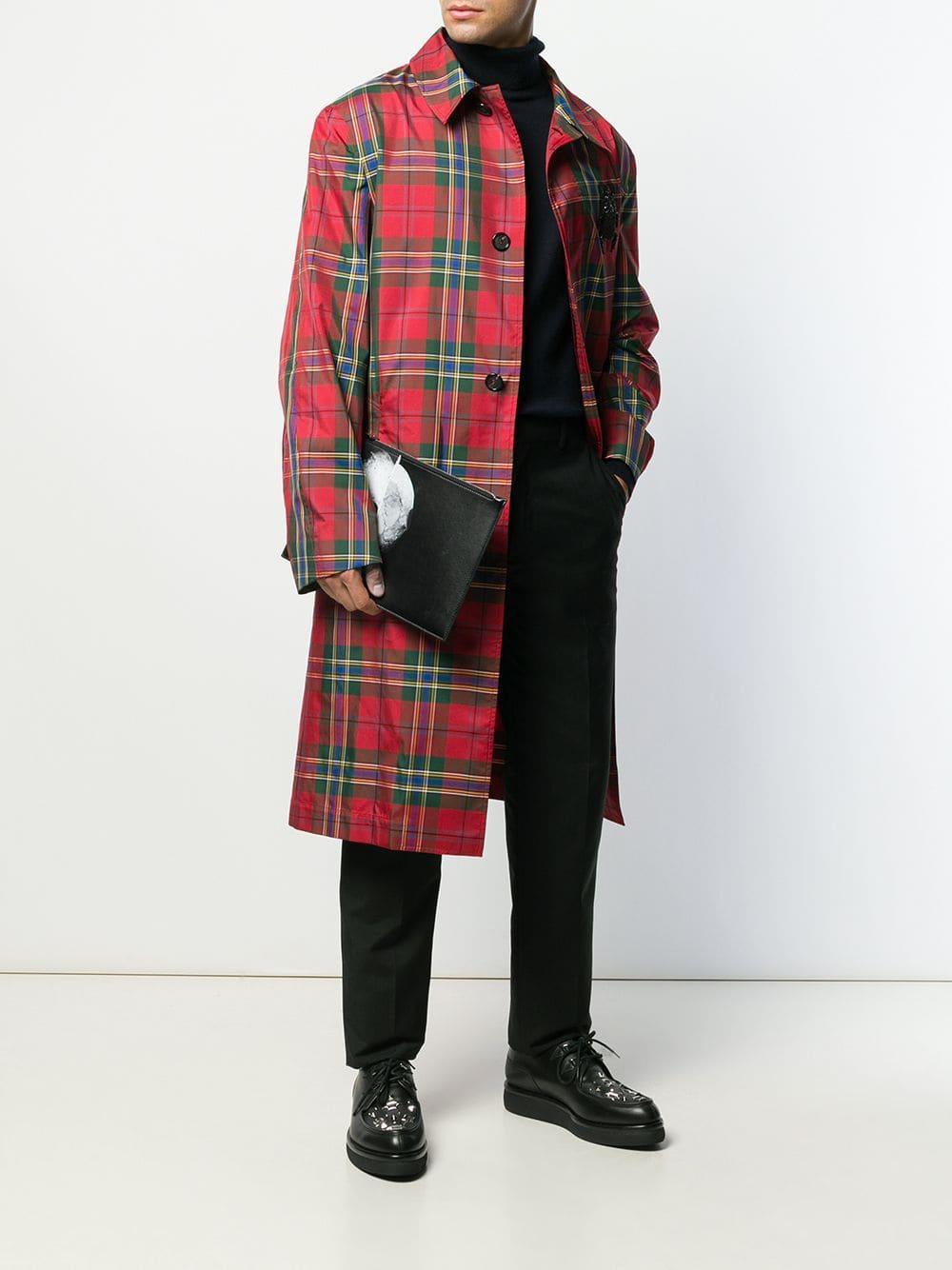 Pochette à imprimé tête de mort Cuir Alexander McQueen pour homme en coloris Noir