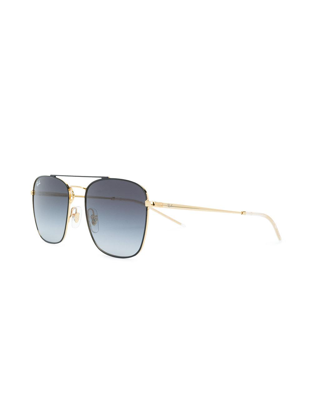 Ray-Ban Aviator Shaped Sunglasses in Metallic for Men