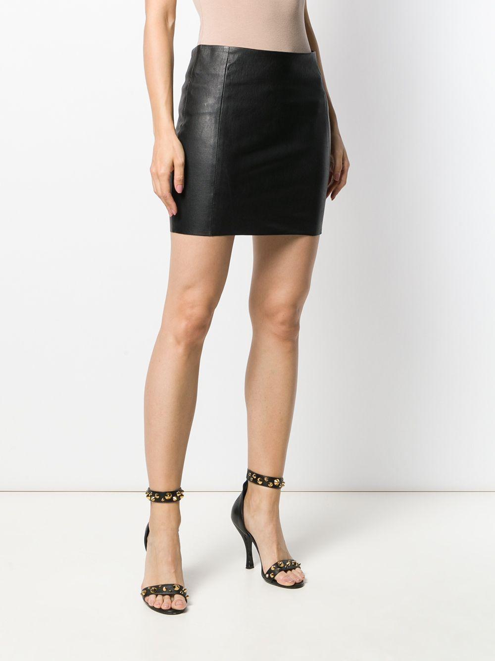 Minifalda de cuero DROMe de Cuero de color Negro