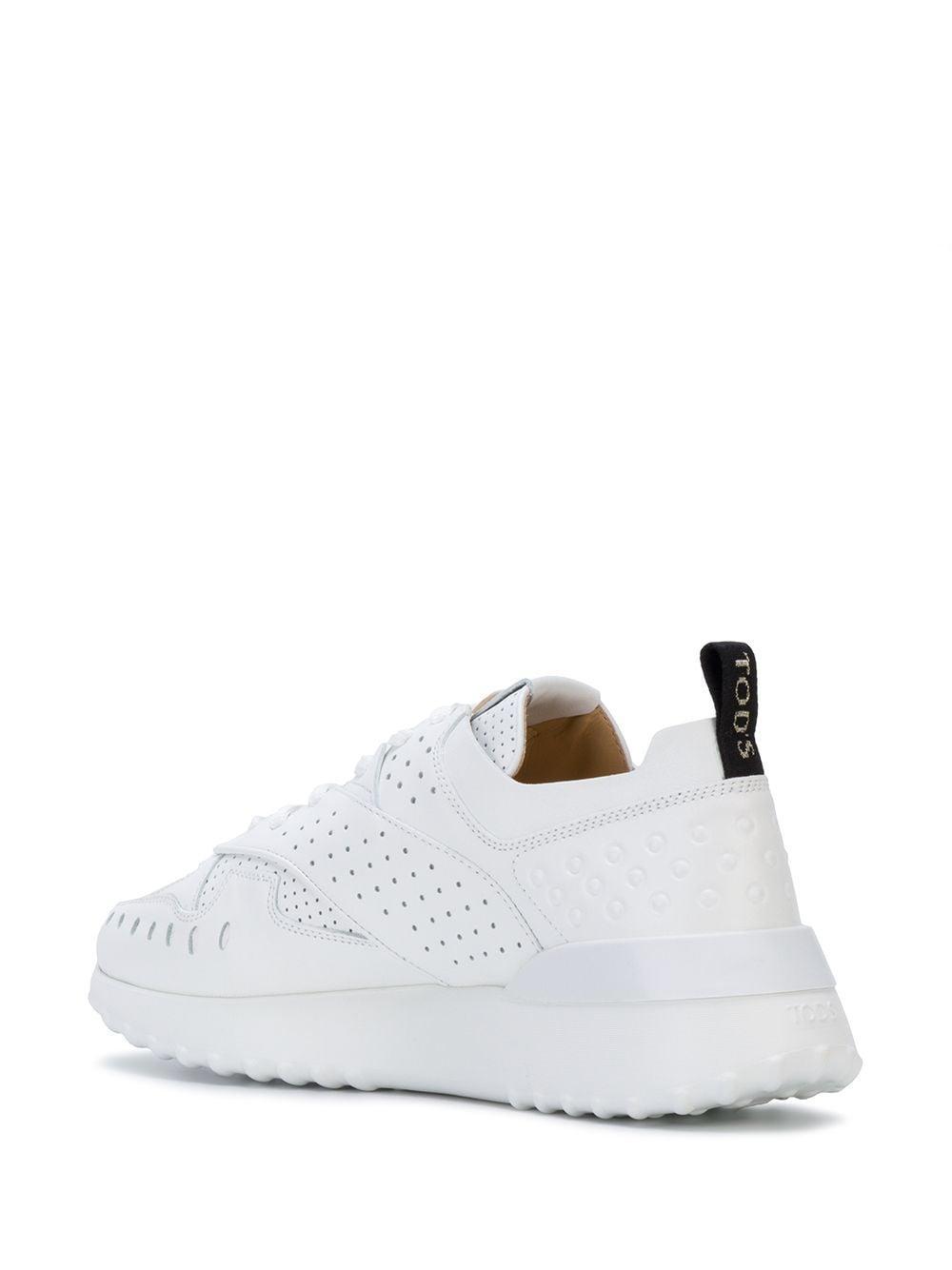 Zapatillas bajas perforadas Tod's de Cuero de color Blanco