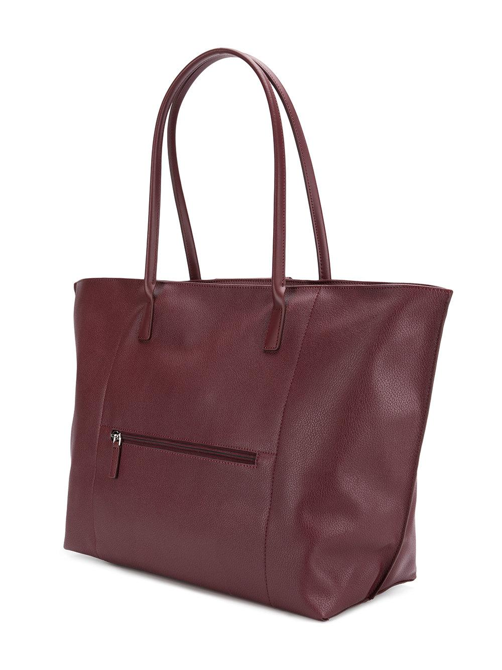 Lancaster Leather Xl Maya Tote Bag in Pink & Purple (Purple)