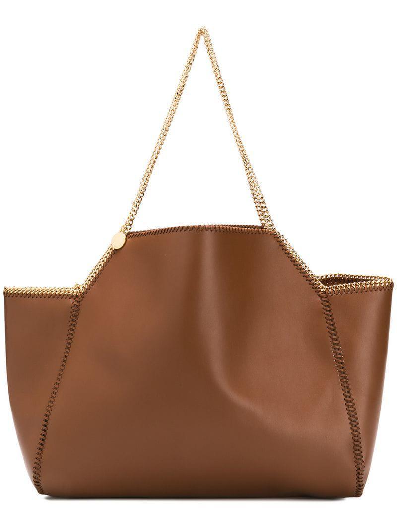 f7f9112ebd Stella McCartney Falabella Tote Bag in Brown - Save 12% - Lyst