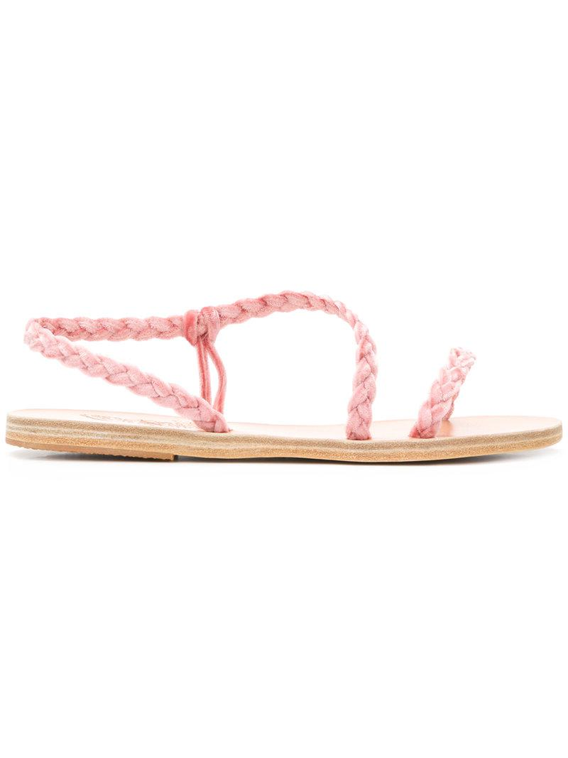 Anaxovachetta sandals - Pink & Purple Ancient Greek Sandals Wbsyeo