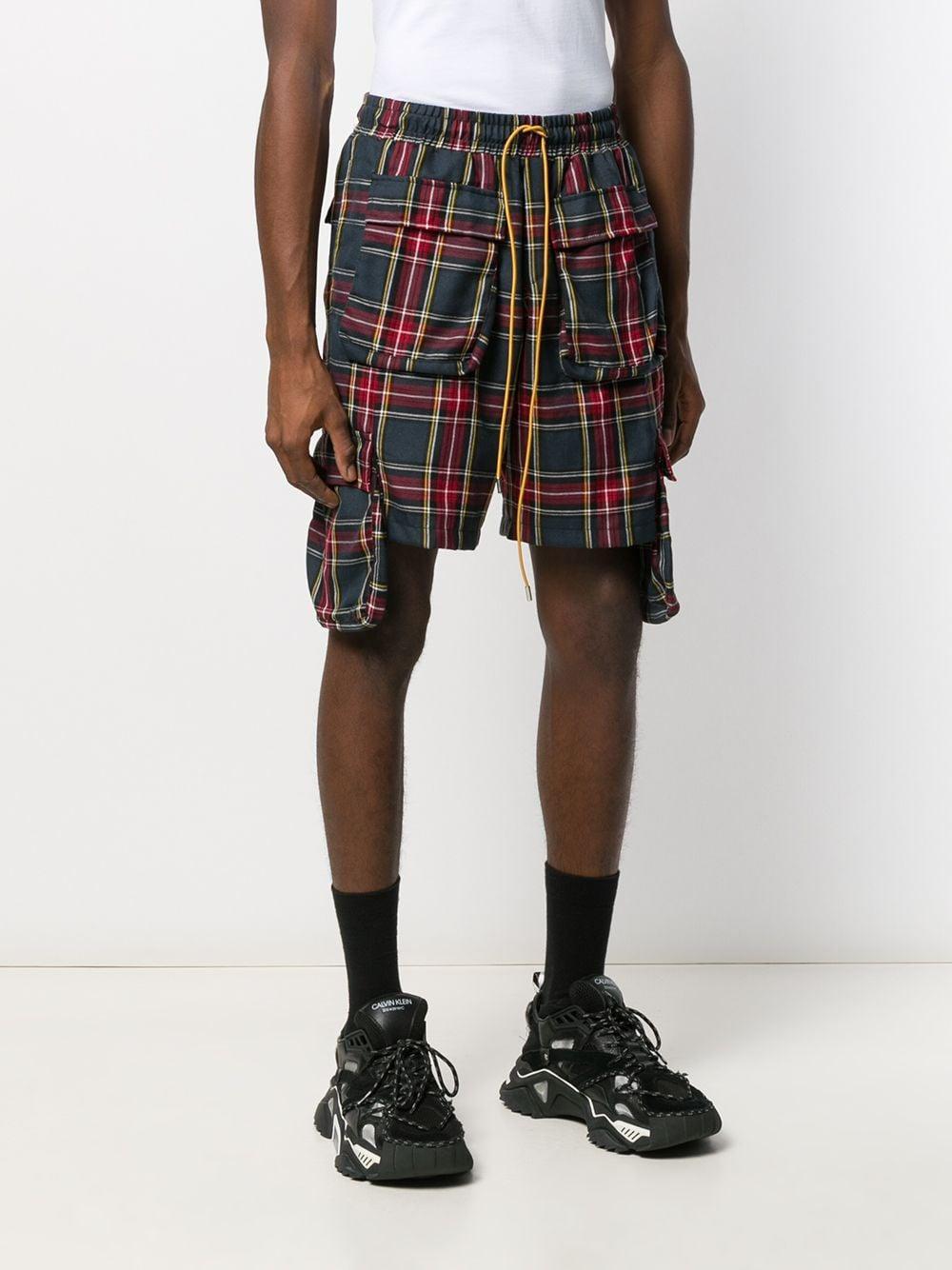Rhude Katoen Geruite Shorts in het Rood voor heren