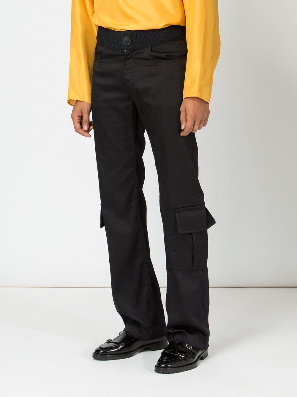 Wales Bonner Cargo Trousers in Black for Men