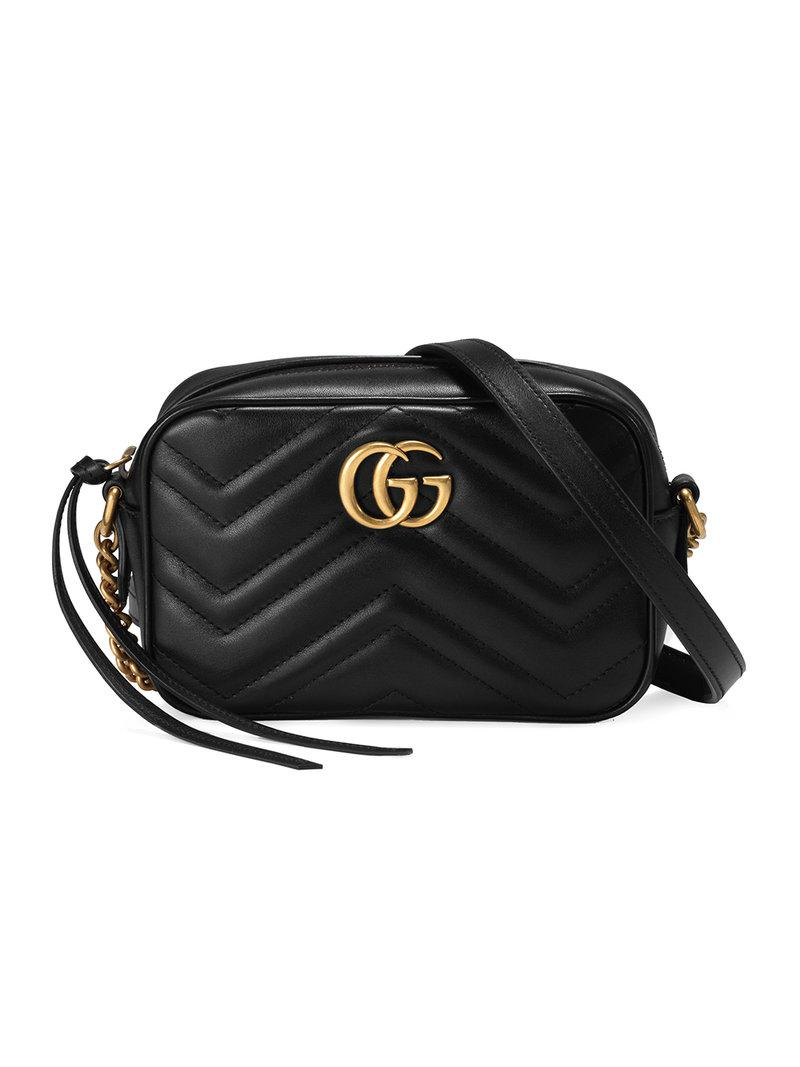 5db633ae69ae3 Gucci Gg Marmont 2.0 Matelasse Leather Shoulder Bag - in Black - Lyst