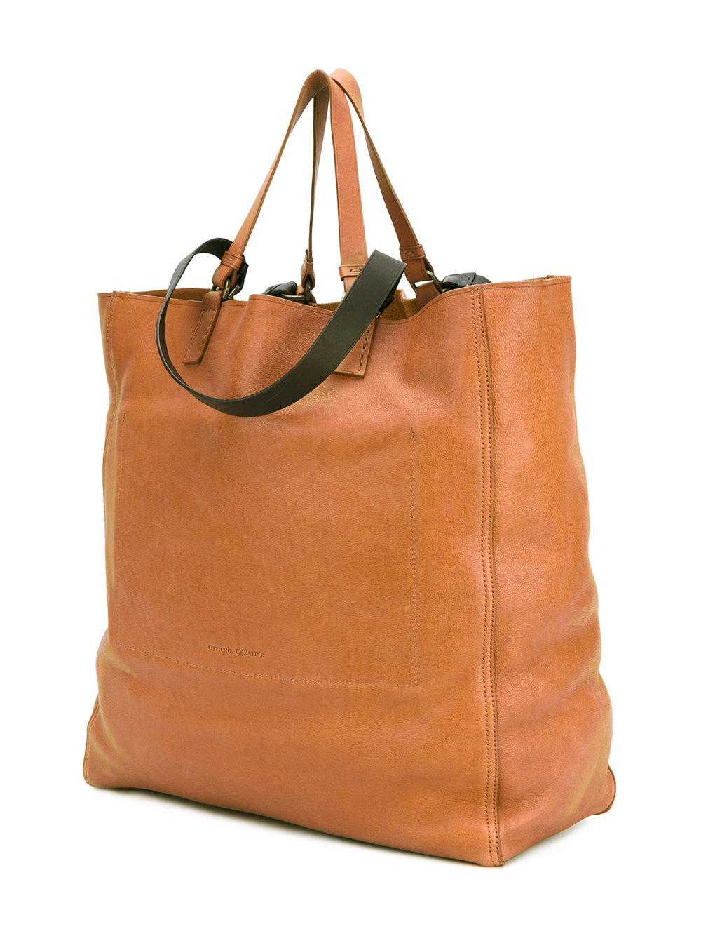 Officine Creative Leather Seura Tote in Brown