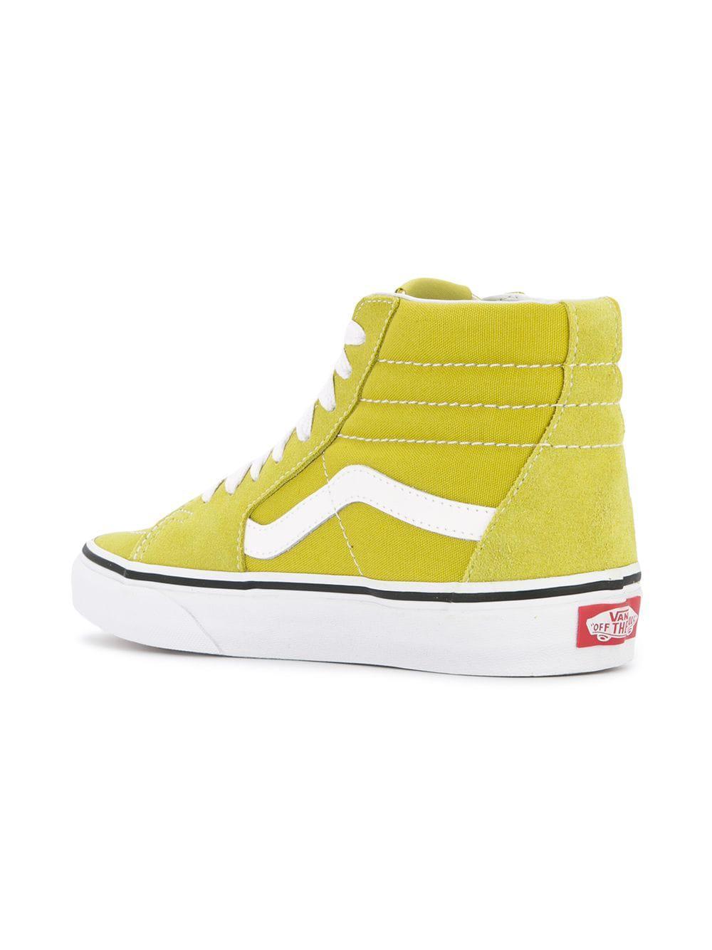 Vans - Yellow Old Skool Hi-top Sneakers - Lyst. View fullscreen 6af612476c73